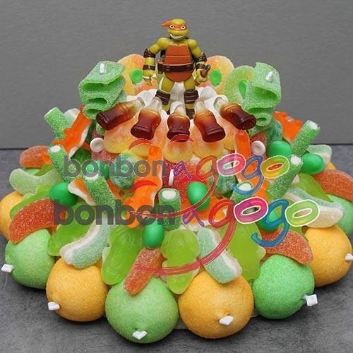 Achat g teau de bonbons h ros tortue ninja bonbon a - Le nom des tortue ninja ...