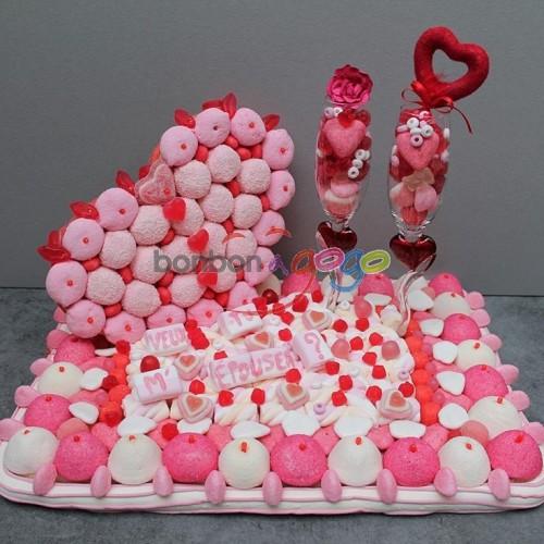 vente g teau de bonbons demande en mariage bonbon a. Black Bedroom Furniture Sets. Home Design Ideas