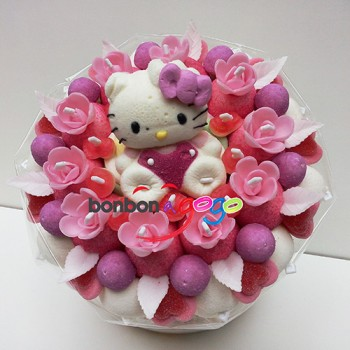 "BOUQUET DE BONBONS ""OURSON ROSE"""