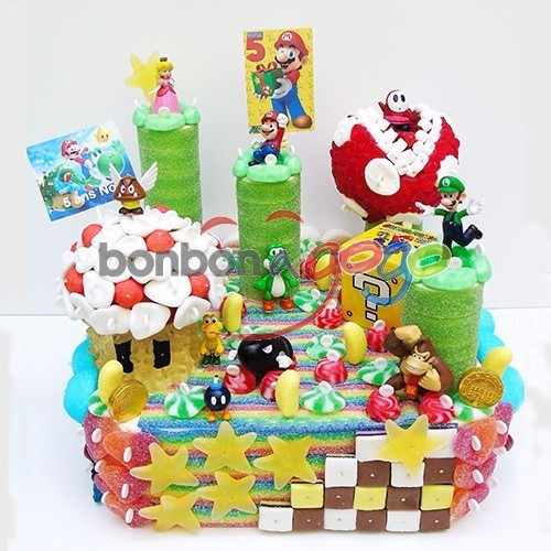 g teau de bonbons jeux vid o nintendo mario 2 bonbon a. Black Bedroom Furniture Sets. Home Design Ideas