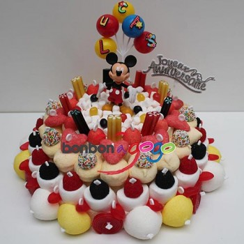 "GÂTEAU DE BONBONS ""MICKEY PARTY"""